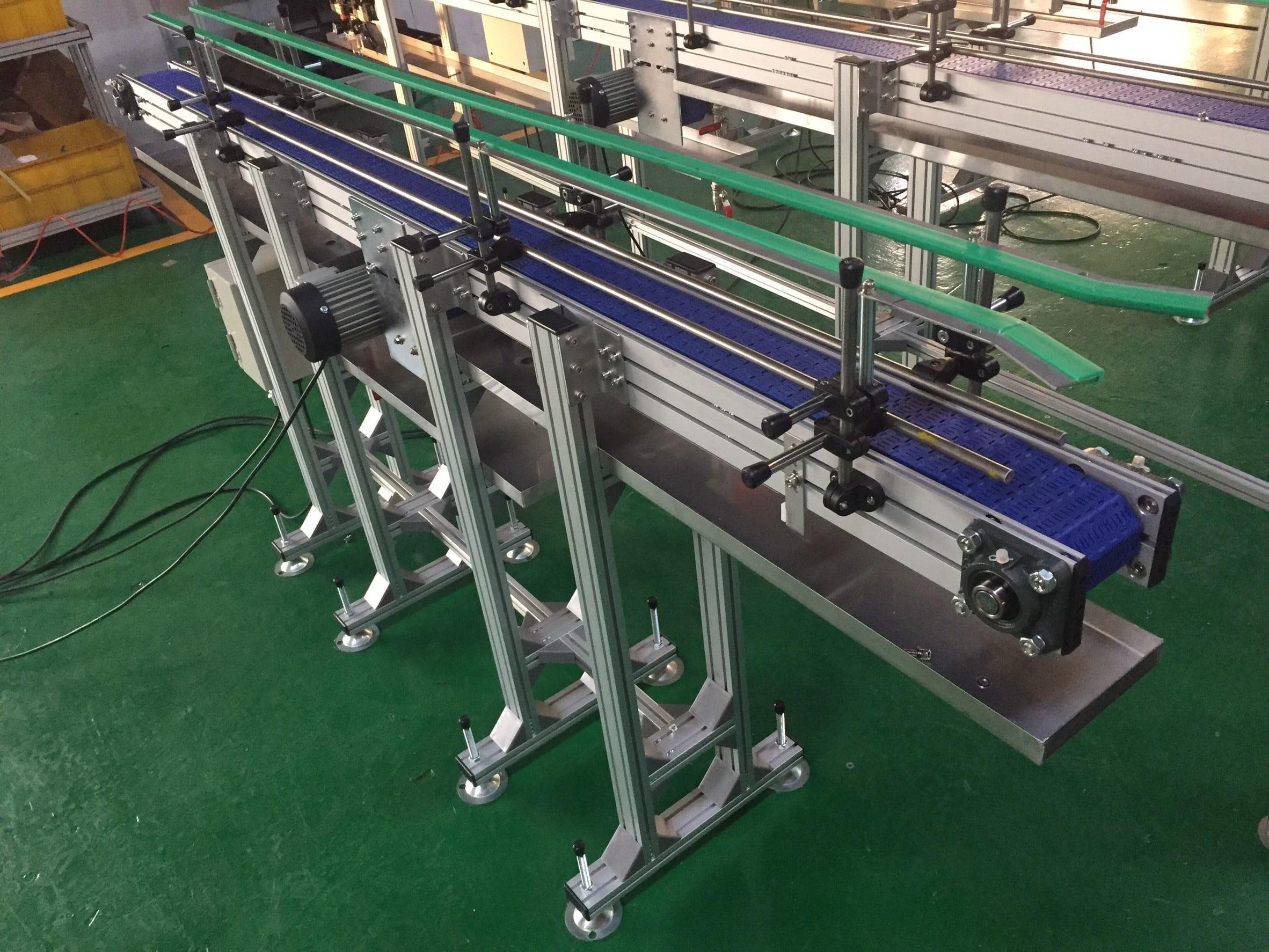 Aluminum extruded flat plastic belt conveyor