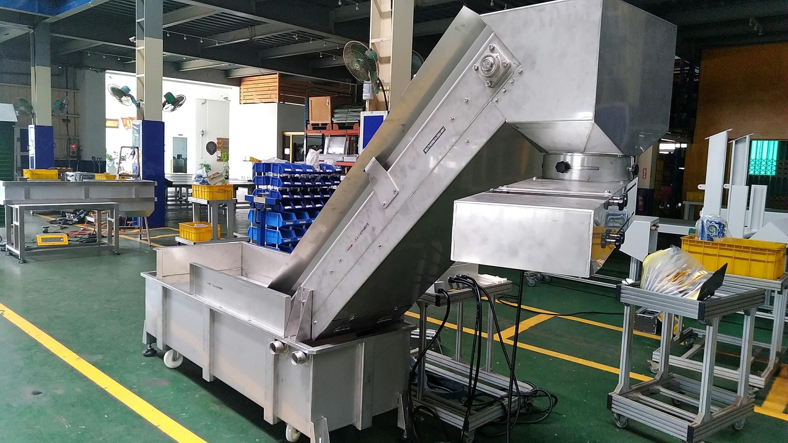 Stainless steel belt climbing hopper conveyor & stainless steel plastic mesh belt conveyor - Lichen Conveyor Equipment Co., Ltd.