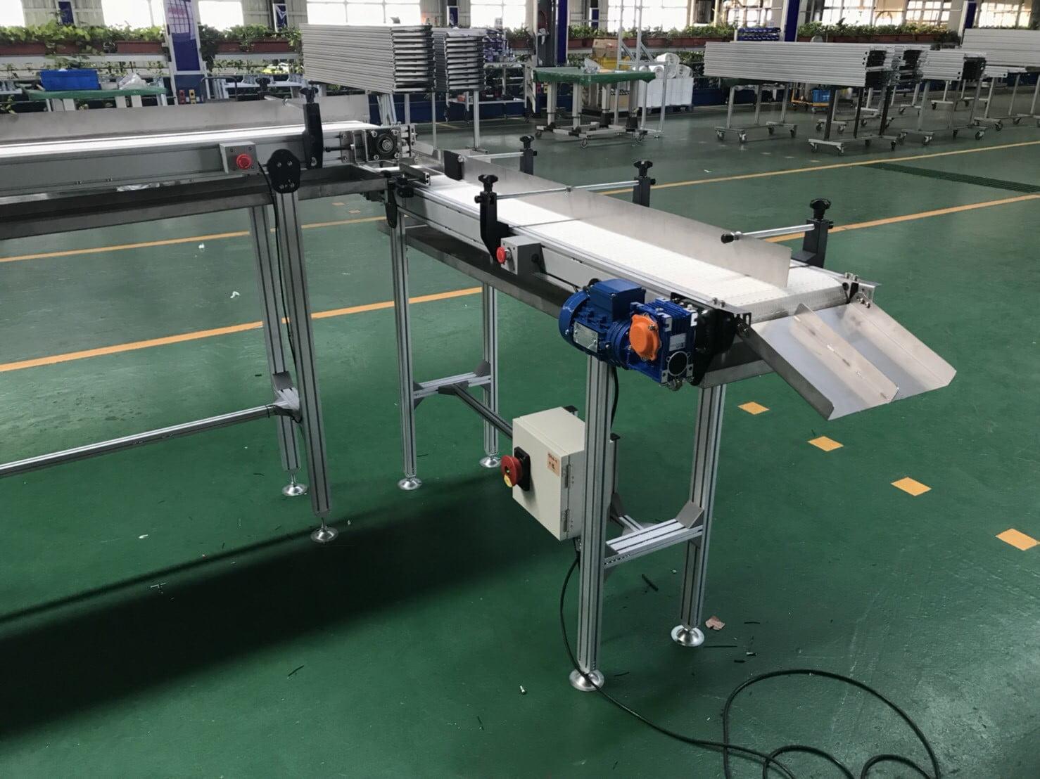 Aluminum extrusion type flat plastic belt conveyor-Lichen Conveyor Equipment Co., Ltd.