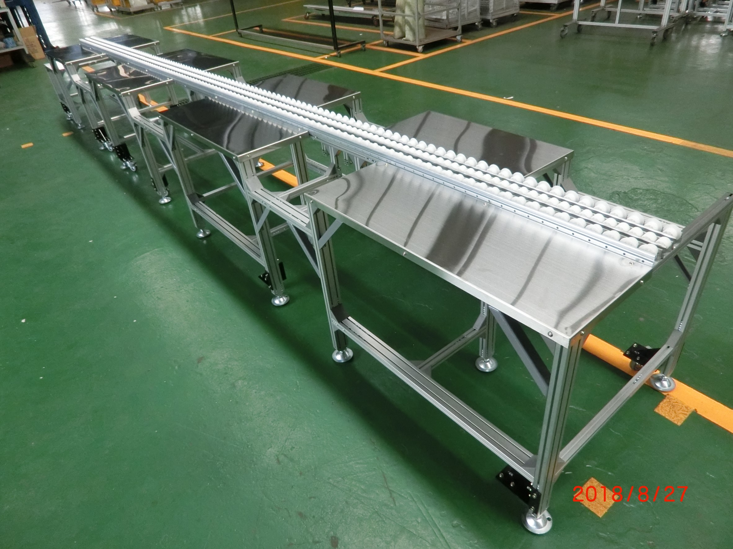 Unpowered fulai conveyor wheels work table -Lichen Conveyor Equipment Co., Ltd.
