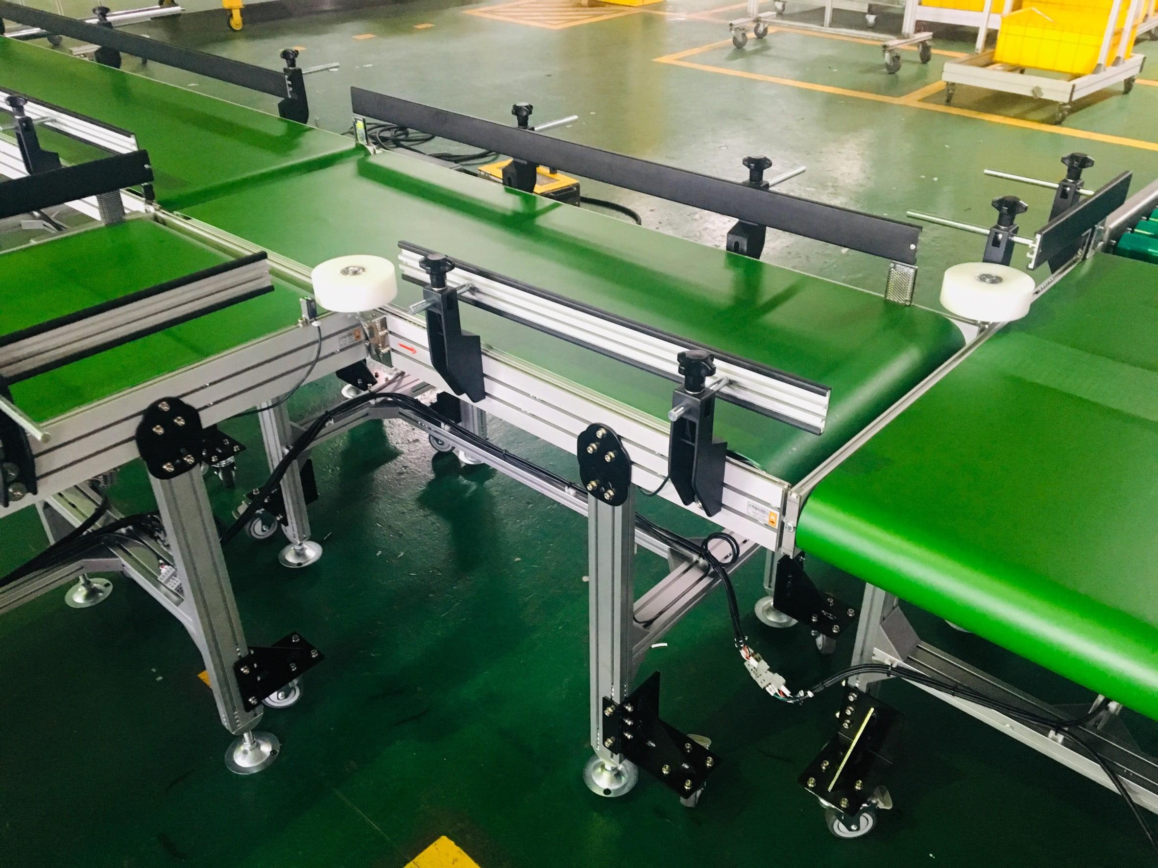 Confluence type aluminum extrusion belt whole plant conveyor -Lichen Conveyor Equipment Co., Ltd.