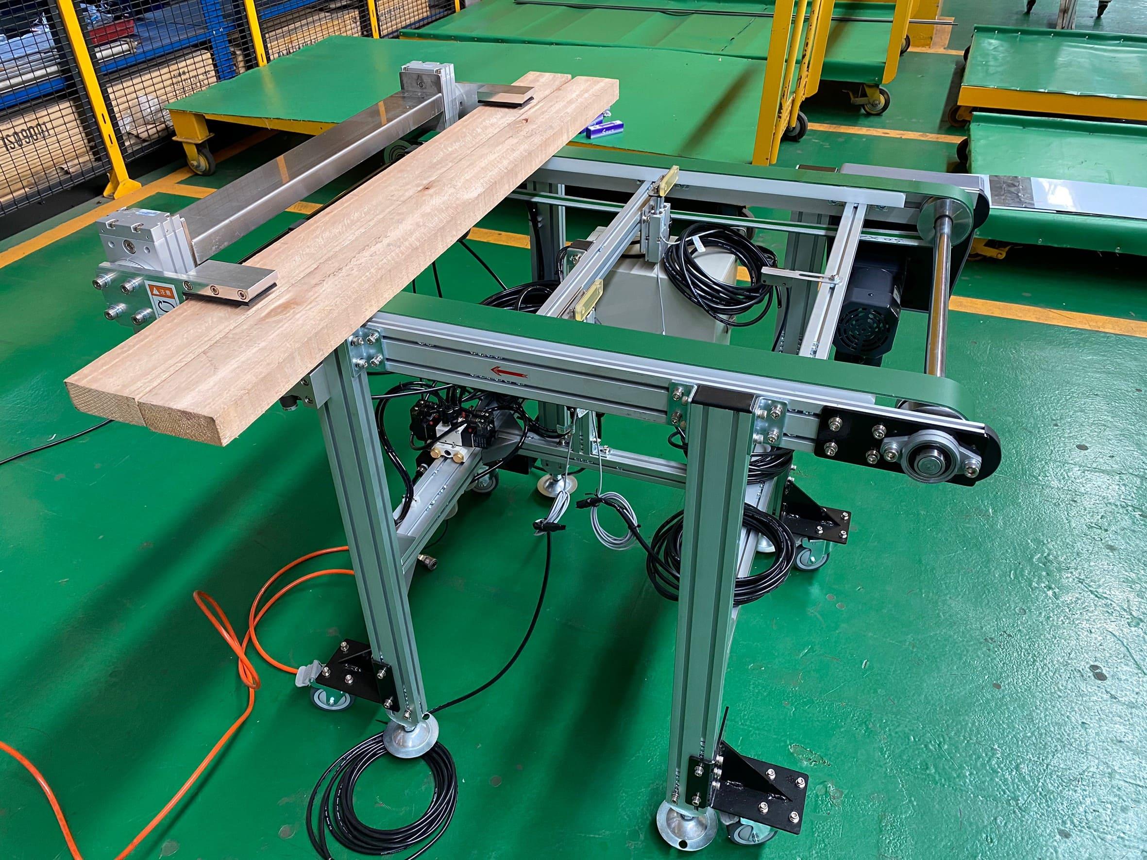 Wood flipped double belt conveyor -Lichen Conveyor Equipment Co., Ltd.