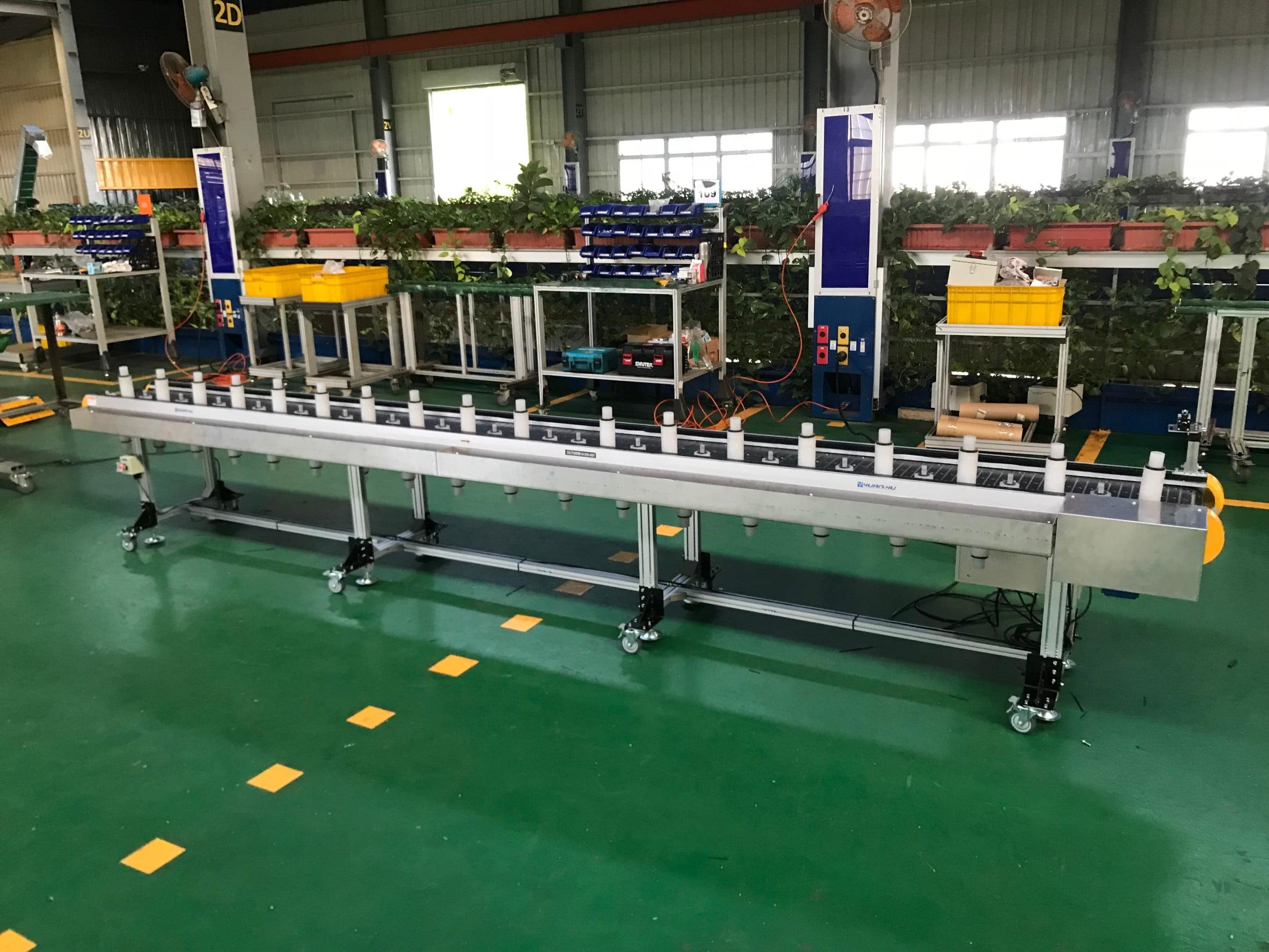 Aluminum extruded flat jig-type aluminum sheet belt conveyor-Lichen Conveyor Equipment Co., Ltd.