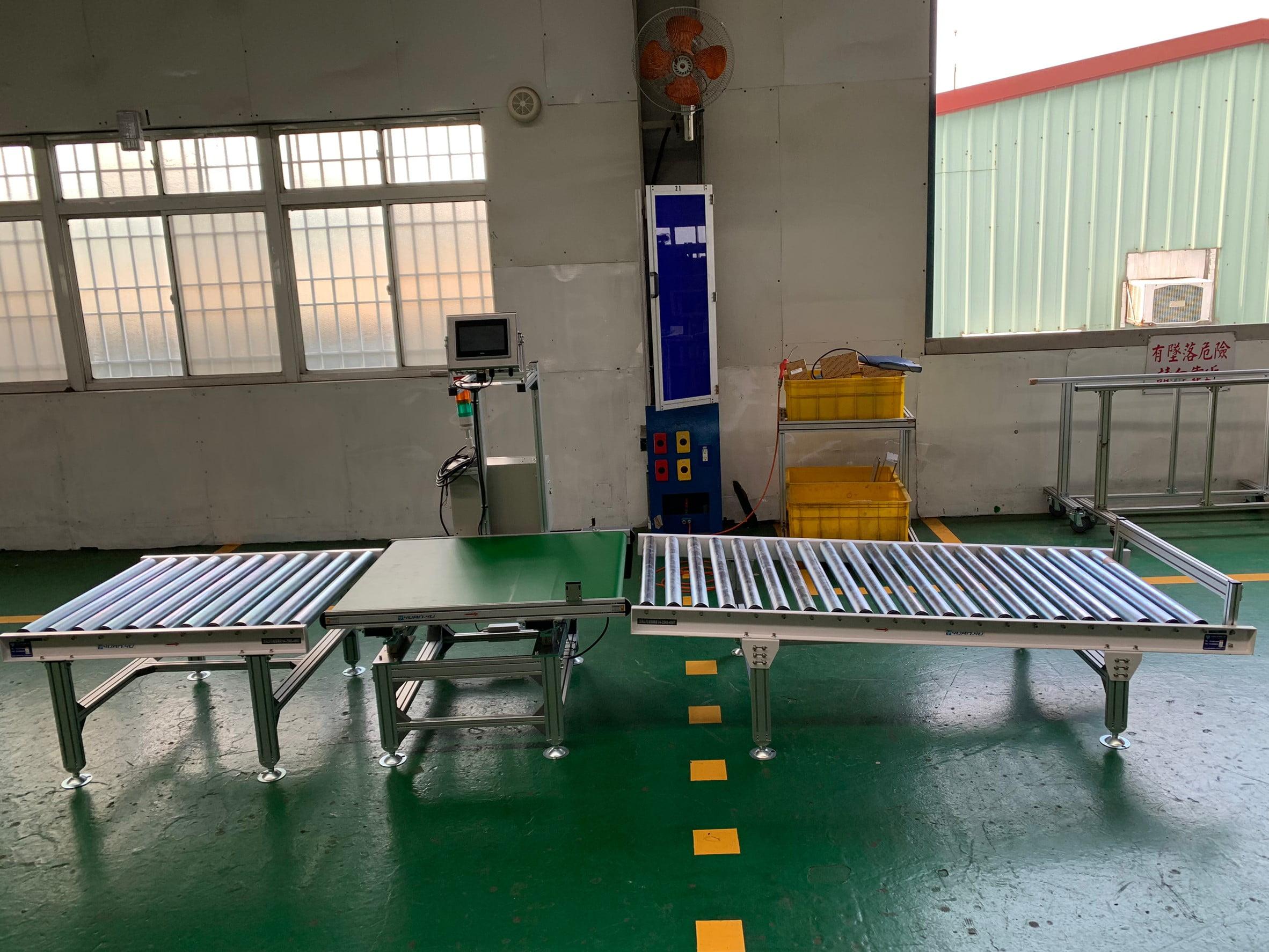 Aluminum extrusion flat belt platform scale conveyor-Lichen Conveyor Equipment Co., Ltd.
