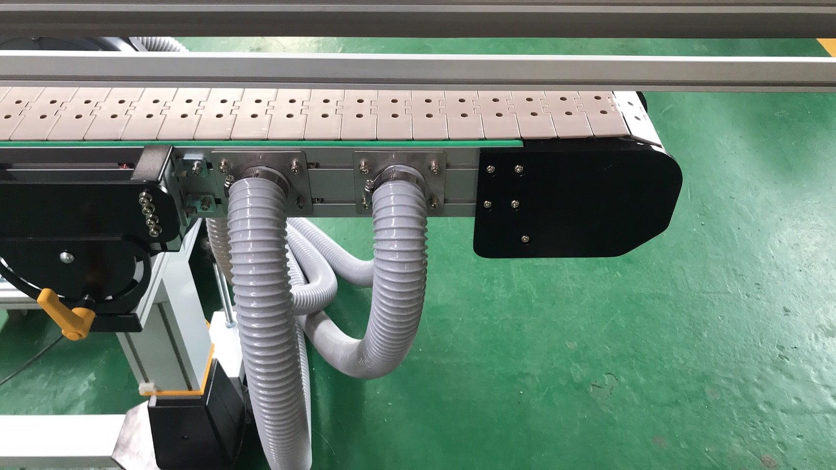 Aluminum extrusion suction type plastic roof belt conveyor-lichen conveyor automation equipment company