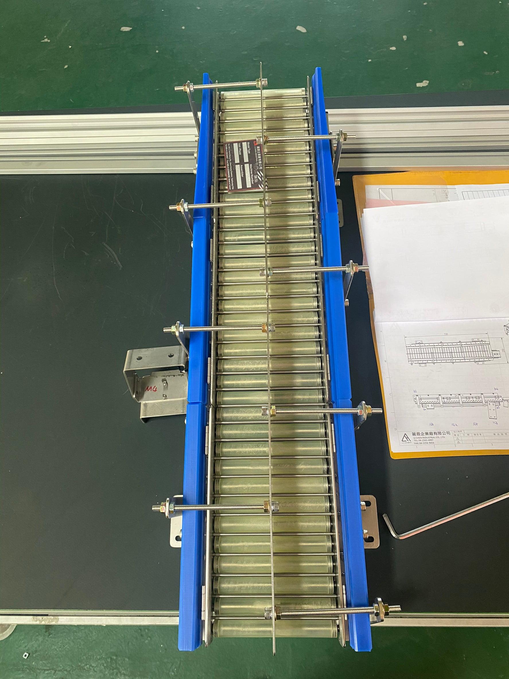 Non-power roller hopper conveyor-LI CHEN INDUSTRIAL CO., LTD.